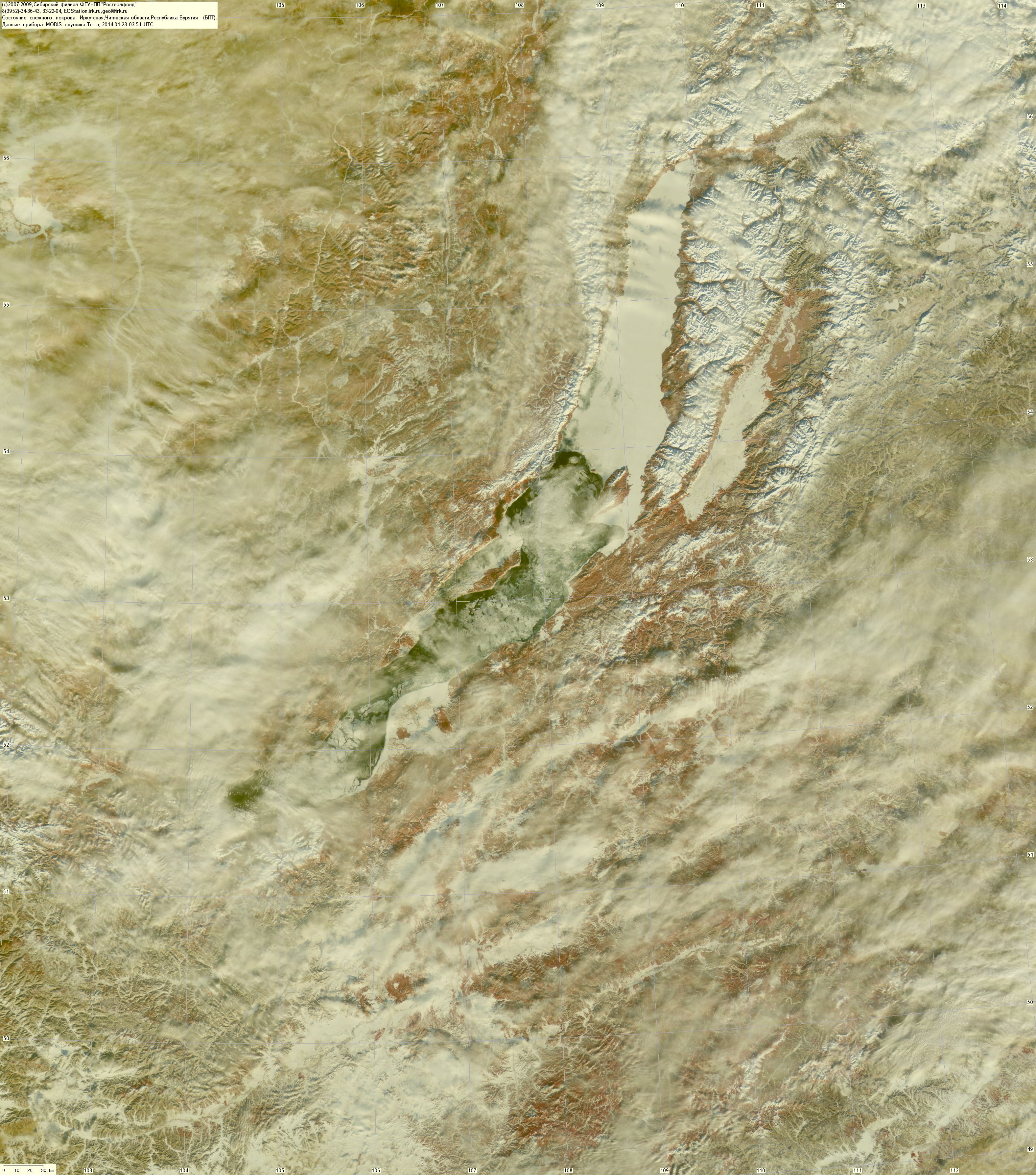 Lake Baikal Satellite Image